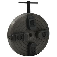 vidaXL 4 Jaw Wood Chuck with M18 Connection Steel Black 150x63 mm