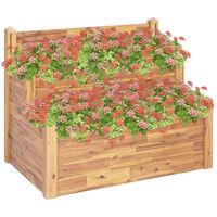 vidaXL 2-Tier Garden Planter 110x75x84 cm Solid Acacia Wood