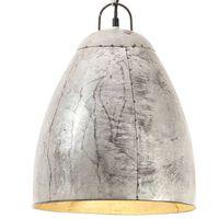 vidaXL Industrial Hanging Lamp 25 W Silver Round 32 cm E27