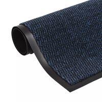 vidaXL Dust Control Mat Rectangular Tufted 120x180 cm Blue