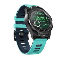 Wristband for TicWatch Pro 22mm silicone turquoise / dark blue