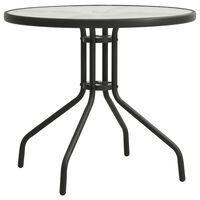 vidaXL Bistro Table Anthracite Ø80x71 cm Steel