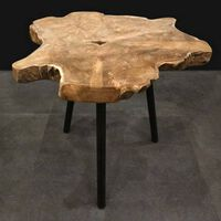 Ambiance End Table Teak Root Wood