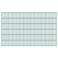 vidaXL 2D Garden Fence Panels 2.008x1.23 m 14 m (Total Length) Green