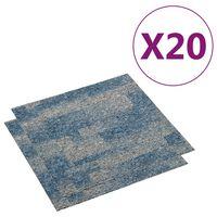 vidaXL Floor Carpet Tiles 20 pcs 5 m² Light Blue