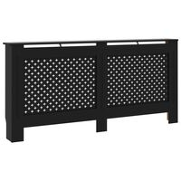 vidaXL Radiator Cover Black 172x19x81 cm MDF