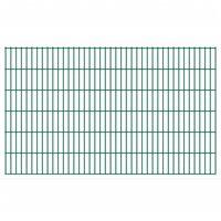 vidaXL 2D Garden Fence Panels 2.008x1.23 m 32 m (Total Length) Green