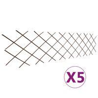 vidaXL Willow Trellis Fences 5 pcs 180x60 cm
