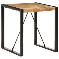 vidaXL Dining Table 70x70x75 cm Solid Rough Mango Wood