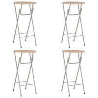 vidaXL Bar Tables 4 pcs Oak 60x112 cm MDF