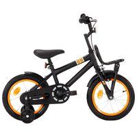 vidaXL Kids Bike with Front Carrier 14 inch Black and Orange