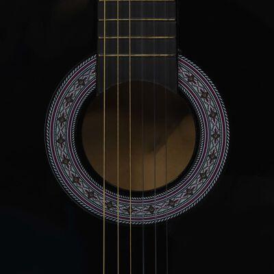 """vidaXL 8 Piece Classical Guitar Beginner Set Black 3/4 36"""""""