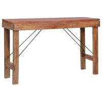 vidaXL Folding Console Table 130x40x80 cm Sold Reclaimed Wood