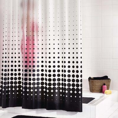 RIDDER Shower Curtain Vinyl Black