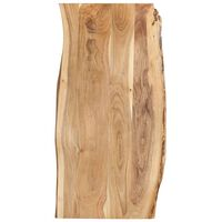 vidaXL Table Top Solid Acacia Wood 120x(50-60)x2.5 cm