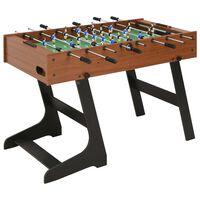 vidaXL Folding Football Table 121x61x80 cm Brown