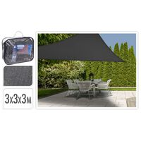 ProGarden Shade Cloth Triangle Dark Grey 3x3x3 m