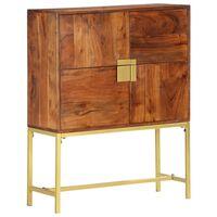 vidaXL Highboard 80x30x100 cm Solid Acacia Wood