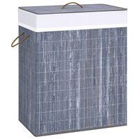 vidaXL Bamboo Laundry Basket Grey 100 L