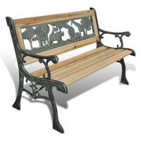 vidaXL Children Garden Bench 84 cm Wood