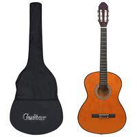 """vidaXL 12 Piece Classical Guitar Beginner Set 4/4 39"""""""