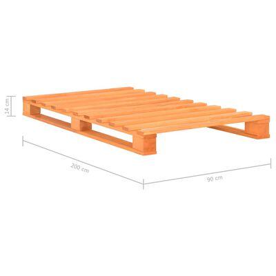 vidaXL Pallet Bed Frame Brown Solid Pine Wood 90x200 cm