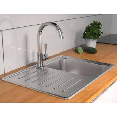 SCHÜTTE Sink Mixer with Round Spout CORNWALL Low Pressure Chrome