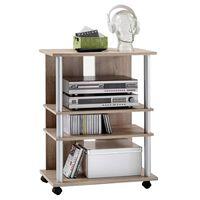 FMD TV/Hi-Fi Rack with 3 Compartments 65x40x79.2cm Oak Tree