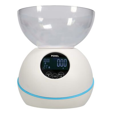 Perel Digital Kitchen Scale 5 kg White