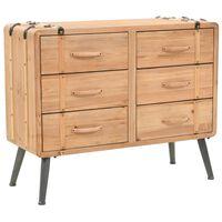 vidaXL Drawer Cabinet Solid Fir Wood 91x35x73 cm