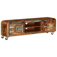 vidaXL TV Cabinet 120x30x36 cm Solid Reclaimed Wood