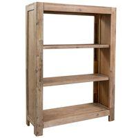 vidaXL 3-Tier Bookcase 80x30x110 cm Solid Acacia Wood