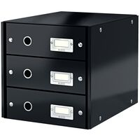 Leitz Drawer Cabinet WOW Black 3 Drawers