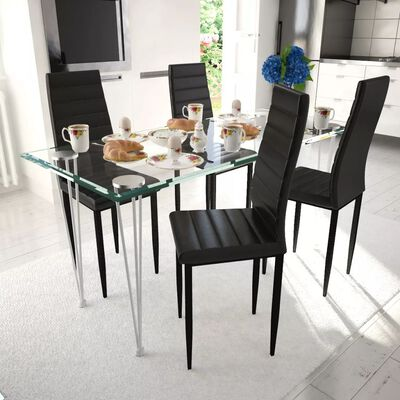 vidaXL Dining Chairs 4 pcs Brown Faux Leather