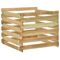 vidaXL Slatted Garden Composter 100x100x80 cm Impregnated Pinewood
