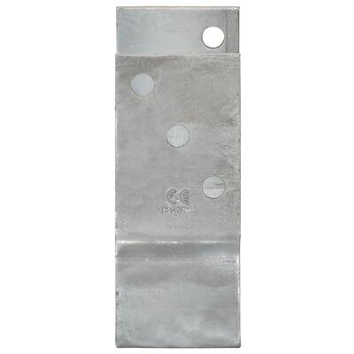 vidaXL Fence Anchors 2 pcs Silver 12x6x15 cm Galvanised Steel