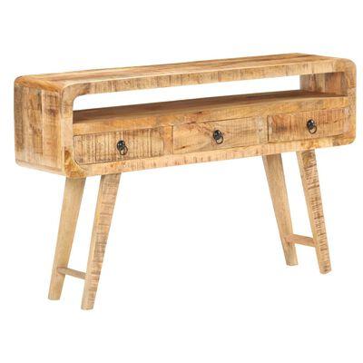 vidaXL Sideboard 120x30x75 cm Rough Mango Wood