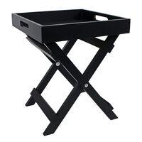 Gifts Amsterdam Butler Tray Milan Wood Black 30x30x36 cm