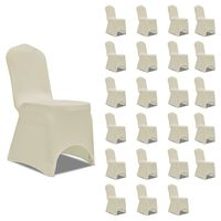vidaXL Chair Cover Stretch Cream 24 pcs