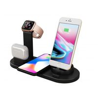 4 in 1 Wireless Charging Dock for Multiple Devices-Black