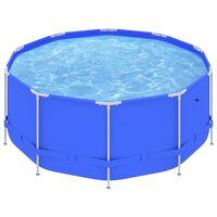 vidaXL Swimming Pool with Steel Frame 367x122 cm Blue