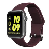 Soft Silicone Apple Watch Band 1/2/3/4/5 (42) Wine Red