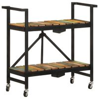 vidaXL Kitchen Trolley 87x36x81 cm Solid Reclaimed Wood