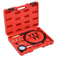12 Piece vidaXL Oil Pressure Gauge Tester Kit