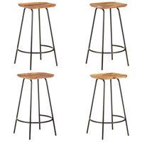 vidaXL Bar Stools 4 pcs Solid Acacia Wood