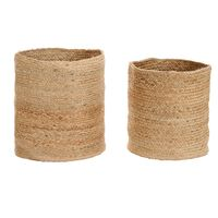 vidaXL Storage Basket Set 2 Pieces Handmade Jute Natural