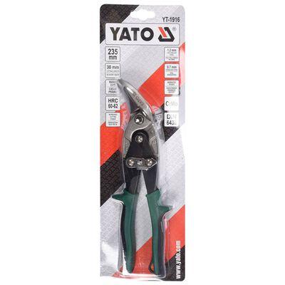 YATO Offset Tin Snips Right 235 mm Green