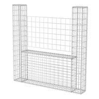 vidaXL Gabion Basket U-Shape Galvanised Steel 160x20x150 cm