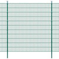 vidaXL 2D Garden Fence Panels & Posts 2008x2230 mm 10 m Green