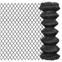 vidaXL Chain Link Fence Steel 15x1 m Grey